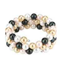 wholesale colors silver plated Shell pearl adjustable bracelet