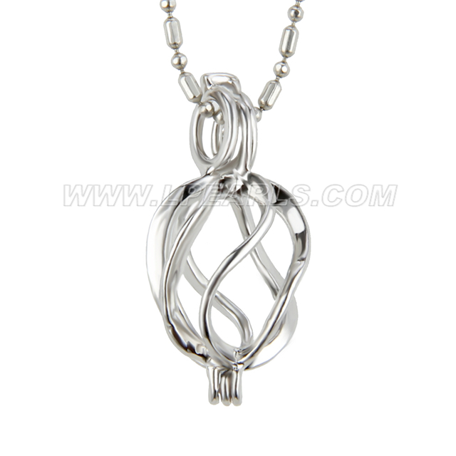 Girls silver plated twisted locket pendants 5pcs