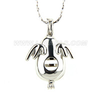 Fashion Silver plated Angle egg locket necklace pendant 5pcs