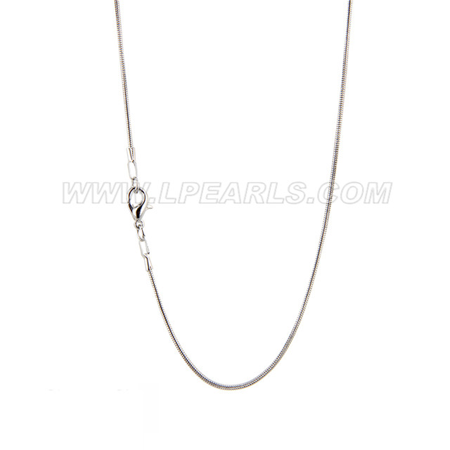 "wholesale siver plated snake necklace chains 50pcs 16"" 18"""