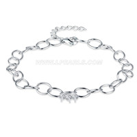 Latest 925 sterling silver bracelet with zircons