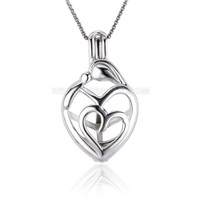 925 sterling silver Mother love locket pendant