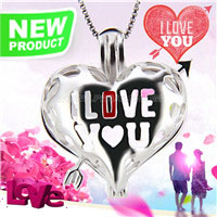 Sweet design 925 sterling silver Love cage pendant