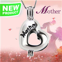 Sweet design 925 sterling silver Mother love cage pendant