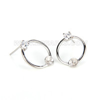 Fashion 925 sterling silver earring fitting