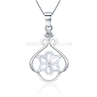 Fashion women 925 sterling silver pearl pendant mounting