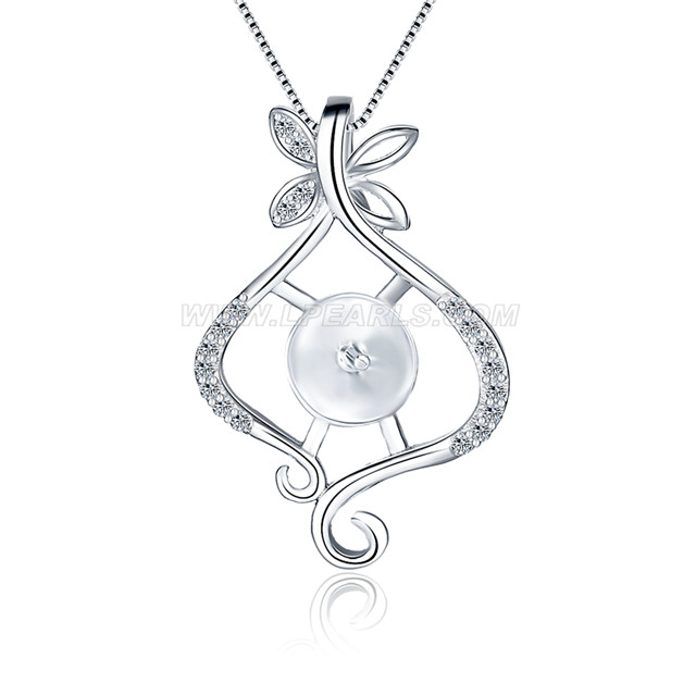 Beautiful 925 sterling silver peach pendant mounting