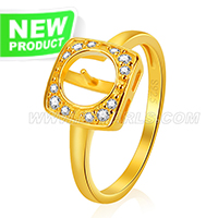 925 silver gold plated nice shape pearl rings fitting with zirco