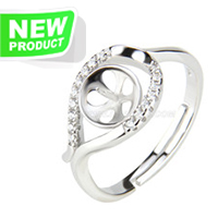 Fashion style 925 sterling silver delicate adjustable rings acce