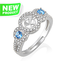 Beautiful 925 sterling silver elegant adjustable rings accessory