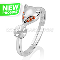 Latest 925 sterling silver Fox adjustable rings accessory