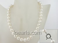 wholesale single strand 10-11mm white round pearl necklace